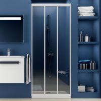 Душевая дверь в нишу Ravak ASDP3-80 Transparent, профиль белый