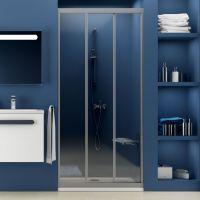 Душевая дверь в нишу Ravak ASDP3-90 Transparent, профиль сатин