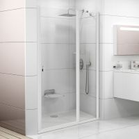 Душевая дверь в нишу Ravak CSD2-110 Transparent, профиль белый