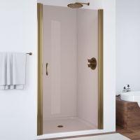 Душевая дверь в нишу Vegas Glass EP 80 05 05 профиль бронза, стекло бронза