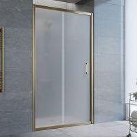 Душевая дверь в нишу Vegas Glass ZP 100 05 10 профиль бронза, стекло сатин