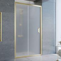 Душевая дверь в нишу Vegas Glass ZP 100 09 10 профиль золото, стекло сатин