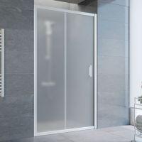 Душевая дверь в нишу Vegas Glass ZP 105 01 10 профиль белый, стекло сатин
