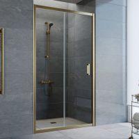 Душевая дверь в нишу Vegas Glass ZP 105 05 01 профиль бронза, стекло прозрачное