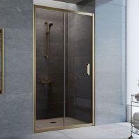 Душевая дверь в нишу Vegas Glass ZP 105 05 05 профиль бронза, стекло бронза