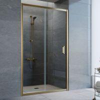 Душевая дверь в нишу Vegas Glass ZP 110 05 01 профиль бронза, стекло прозрачное