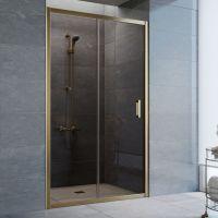 Душевая дверь в нишу Vegas Glass ZP 110 05 05 профиль бронза, стекло бронза