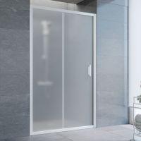 Душевая дверь в нишу Vegas Glass ZP 115 01 10 профиль белый, стекло сатин