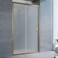 Душевая дверь в нишу Vegas Glass ZP 115 05 10 профиль бронза, стекло сатин