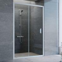 Душевая дверь в нишу Vegas Glass ZP 115 07 01 профиль матовый хром, стекло прозрачное