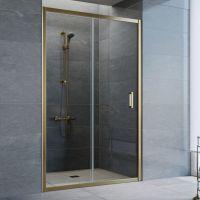 Душевая дверь в нишу Vegas Glass ZP 120 05 01 профиль бронза, стекло прозрачное
