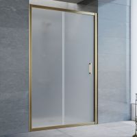 Душевая дверь в нишу Vegas Glass ZP 120 05 10 профиль бронза, стекло сатин