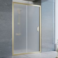 Душевая дверь в нишу Vegas Glass ZP 120 09 10 профиль золото, стекло сатин