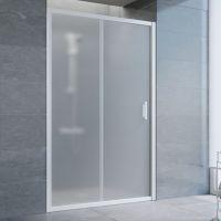 Душевая дверь в нишу Vegas Glass ZP 125 01 10 профиль белый, стекло сатин