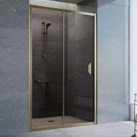 Душевая дверь в нишу Vegas Glass ZP 125 05 05 профиль бронза, стекло бронза
