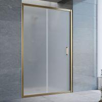 Душевая дверь в нишу Vegas Glass ZP 125 05 10 профиль бронза, стекло сатин