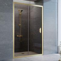 Душевая дверь в нишу Vegas Glass ZP 125 09 05 профиль золото, стекло бронза