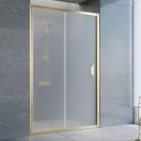 Душевая дверь в нишу Vegas Glass ZP 125 09 10 профиль золото, стекло сатин