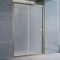 Душевая дверь в нишу Vegas Glass ZP 130 05 10 профиль бронза, стекло сатин