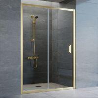 Душевая дверь в нишу Vegas Glass ZP 135 09 01 профиль золото, стекло прозрачное