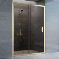 Душевая дверь в нишу Vegas Glass ZP 135 09 05 профиль золото, стекло бронза