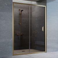 Душевая дверь в нишу Vegas Glass ZP 140 05 05 профиль бронза, стекло бронза