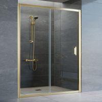 Душевая дверь в нишу Vegas Glass ZP 150 09 01 профиль золото, стекло прозрачное