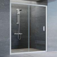 Душевая дверь в нишу Vegas Glass ZP 160 01 01 профиль белый, стекло прозрачное