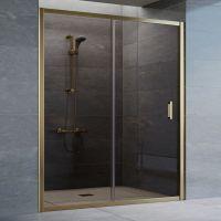 Душевая дверь в нишу Vegas Glass ZP 160 05 05 профиль бронза, стекло бронза