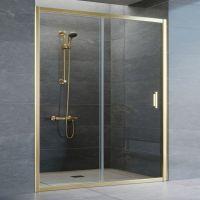 Душевая дверь в нишу Vegas Glass ZP 160 09 01 профиль золото, стекло прозрачное