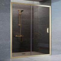 Душевая дверь в нишу Vegas Glass ZP 160 09 05 профиль золото, стекло бронза