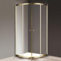 Душевой уголок Cezares Giubileo-R2-80 прозрачное стекло, золото