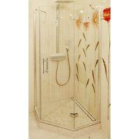 Душевой уголок GuteWetter Lux Festt GK-101 правый 100x100 см стекло бесцветное, профиль хром