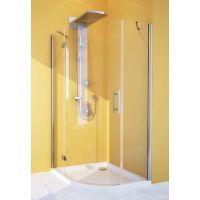 Душевой уголок GuteWetter Lux Meliori GK-101 левый 100x100 см стекло бесцветное, профиль хром