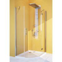 Душевой уголок GuteWetter Lux Meliori GK-101 правый 100x100 см стекло бесцветное, профиль хром