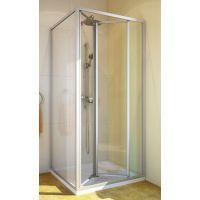 Душевой уголок GuteWetter Practic Square GK-404 правая 100x100 см стекло бесцветное, профиль матовый хром