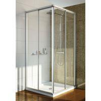 Душевой уголок GuteWetter Practic Square GK-422 100x100 см стекло бесцветное, профиль матовый хром