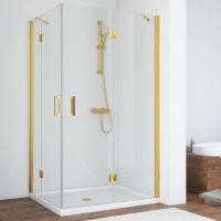 Душевой уголок Vegas Glass AFA-F 100*90 09 01 R профиль золото, стекло прозрачное