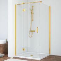 Душевой уголок Vegas Glass AFP-Fis 100*110 09 01 L профиль золото, стекло прозрачное