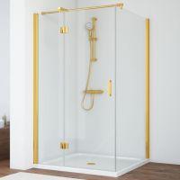 Душевой уголок Vegas Glass AFP-Fis 120*100 09 01 L профиль золото, стекло прозрачное