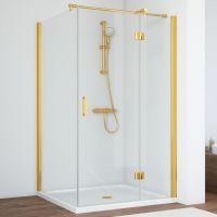 Душевой уголок Vegas Glass AFP-Fis 120*100 09 01 R профиль золото, стекло прозрачное