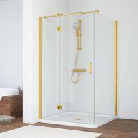 Душевой уголок Vegas Glass AFP-Fis 120*110 09 01 L профиль золото, стекло прозрачное