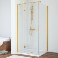 Душевой уголок Vegas Glass AFP-Fis 80 09 01 L профиль золото, стекло прозрачное