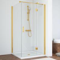 Душевой уголок Vegas Glass AFP-Fis 90*80 09 01 R профиль золото, стекло прозрачное