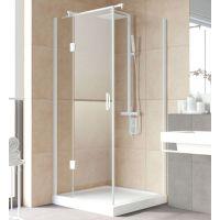 Душевой уголок Vegas Glass AFP-Fis Lux 100*90 01 01 L профиль белый, стекло прозрачное