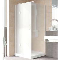 Душевой уголок Vegas Glass AFP-Fis Lux 100*90 01 10 L профиль белый, стекло сатин