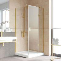 Душевой уголок Vegas Glass AFP-Fis Lux 100*90 09 01 R профиль золото, стекло прозрачное