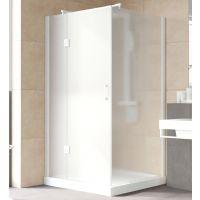 Душевой уголок Vegas Glass AFP-Fis Lux 120*100 01 10 L профиль белый, стекло сатин