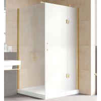 Душевой уголок Vegas Glass AFP-Fis Lux 120*100 09 10 R профиль золото, стекло сатин