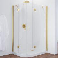 Душевой уголок Vegas Glass AFS-F 120*100 09 01 R профиль золото, стекло прозрачное
